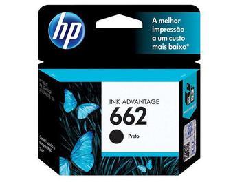 Cartucho de Tinta HP Preto 662 Original P/ - HP 2516 3516 3546 2546 1516 4646 2646