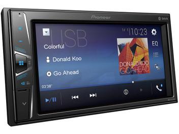 "Central Multimídia Pioneer MVH-G218BT LCD 6,2"" - Touch Câmera de Ré Bluetooth USB Auxiliar"