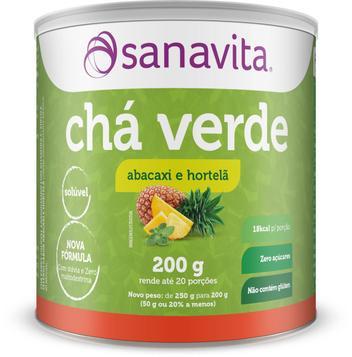 Chá verde - abacaxi com hortelã 200g - sanavita