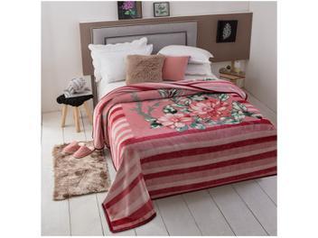 Cobertor Casal Dyuri - Melville Vinho Rosa