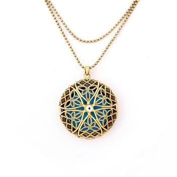 Colar e Pingente Difusor Pessoal Aromaterapia Óleo Essencial - Regina bijoux