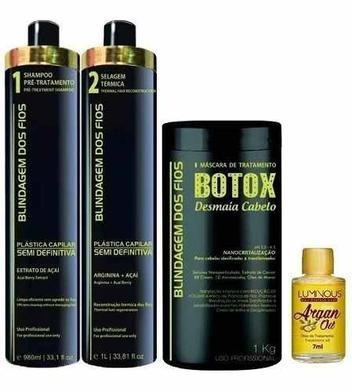 Combo Blindagem Dos Fios Plastica Semi Definitiva E Botox + Oleo