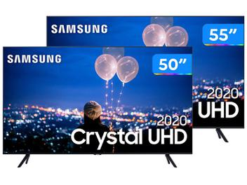 "Combo Smart TV Crystal UHD 4K LED 55"" - Samsung + Smart TV Crystal UHD 4K LED 50"""