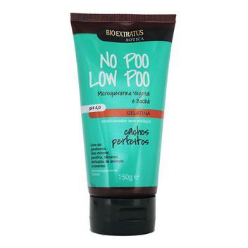 Condicionador Gelatina Sem Enxágue No Poo Low Poo Cachos Perfeitos 150g - Bio Extratus