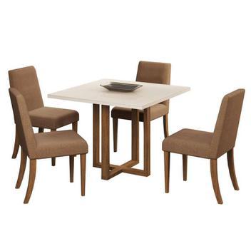 Conjunto de Mesa C/ 4 Cadeiras Italia  Volttoni