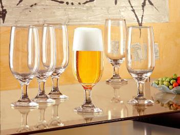Conjunto de Taças de Vidro para Cerveja 6 Peças - 300ml Nadir Floripa 7732