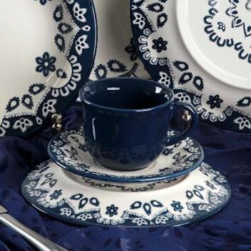 Conjunto de Xicara de Chá com Pires 6 Peças Oxford Linha Energy