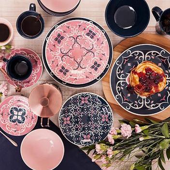 Conjunto de Xicara de Chá com Pires 6 Peças Oxford Linha Hana