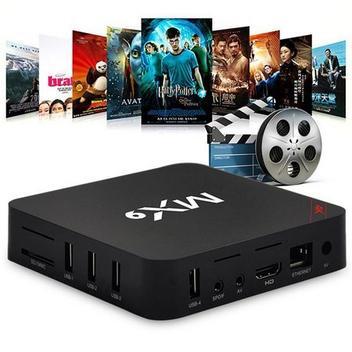 Conversor Smart Tv MX9 Pro 4k  Android 9.0.1 3gb + 16g Youtube e Netflix Wifi 2.4G - Otto box universal