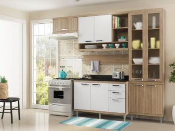 Oferta ➤ Cozinha Compacta Multimóveis Sicilia com Balcão – 9 Portas 3 Gavetas (cód. 214443800)   . Veja essa promoção