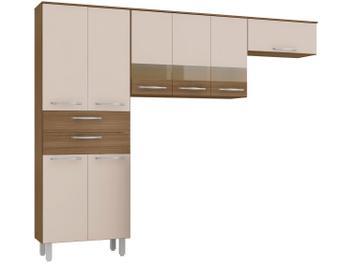 Cozinha Compacta Poliman Mel 8 Portas - 2 Gavetas - Magazine Ofertaesperta
