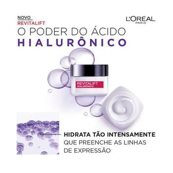 Creme Anti-idade L'Oréal Paris - Revitalift Hialurônico Noturno