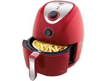 Oferta ➤ Fritadeira Elétrica Sem Óleo/Air Fryer Philco – Air Fry Saúde Vermelha 3L com Timer 110V (cód. 215689800)   . Veja essa promoção