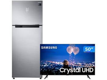 Geladeira/Refrigerador Samsung Frost Free Duplex - 453L 5-em-1 Twin Cooling Plus RT6000K + Smart TV