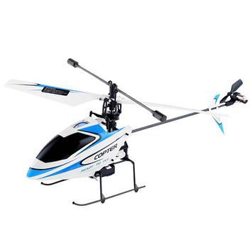 Helicoptero De Controle Remoto V911 Wltoys 4ch Muito Estavel-BRANCO COM AZUL