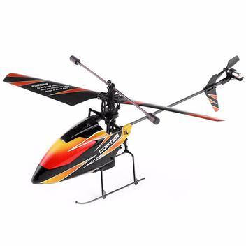Helicoptero De Controle Remoto V911 Wltoys 4ch Muito Estavel-Preto com vermelho e laranja