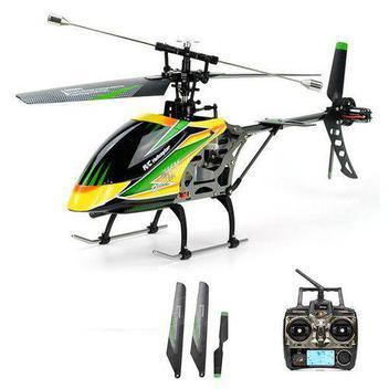 Helicóptero De Controle Wltoys Hover R/c V912 2.4ghz 4 Canais - Amarelo
