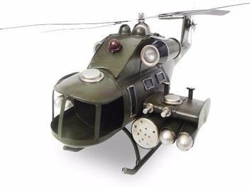 Helicoptero Exercito Vintage De Ferro Fundido Retro (CJ-019) - Braslu