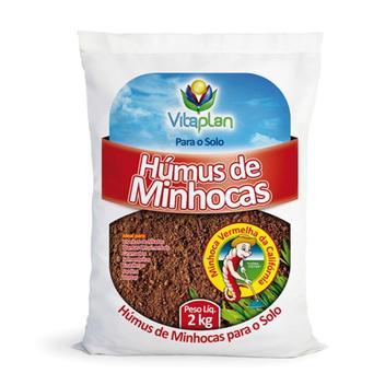 Húmus de Minhocas - Substrato para o Solo 2Kg - Vitaplan
