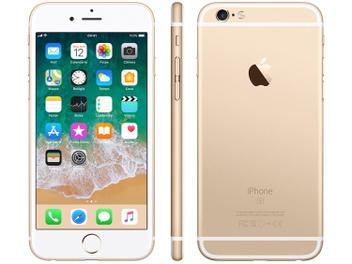 """iPhone 6s Apple 32GB Dourado 4G Tela 4.7"""" - Retina Câm. 12MP + Selfie 5MP iOS 11 Proc. A9"""