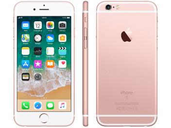 "iPhone 6s Apple 32GB Ouro Rosa 4G Tela 4.7"" - Retina Câm. 12MP + Selfie 5MP iOS 11 Proc. A9"