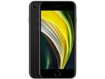 "iPhone SE Apple 64GB Preto 4G Tela 4,7"" Retina - Câm. 12MP + Selfie 7MP iOS 13 Proc. A13 Bionic NFC Preto"