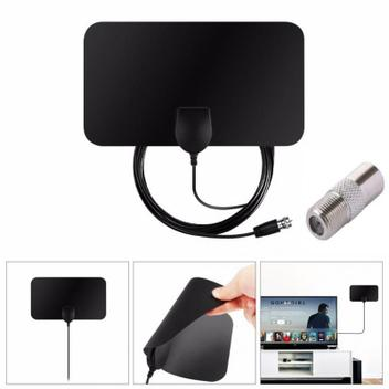 Kit Antena Interna + Amplificador de Sinal HDTV para Tv Digital - Satelite