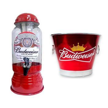 Kit Chopeira Cervejeira + Balde de Gelo 6l Cerveja Budweiser - Predileta