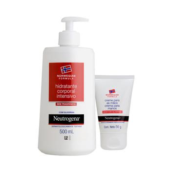 Kit hidrante Neutrogena Norwegian: Body 500ml + norwegian c/ Glicerina 56g