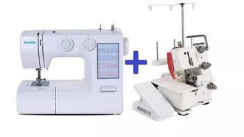 Kit Máquinas de Costura Domésticas, Zig Zag (FY2200) + Overlock (FN2-7D) - Kitms