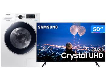 Lava e Seca Samsung 11kg WD11M4453J 12 Programas - de Lavagem Branca + Smart TV Crystal UHD 4K LED 110V