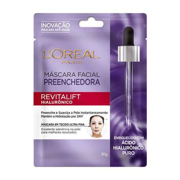 Máscara Facial L'oréal Preenchedora Revitalift Hialurônico Sachê 30g - Loreal