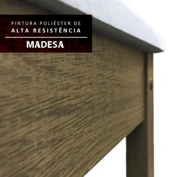 Mesa de Jantar 4 Lugares Havana Rustic/Crema Pérola - Madesa