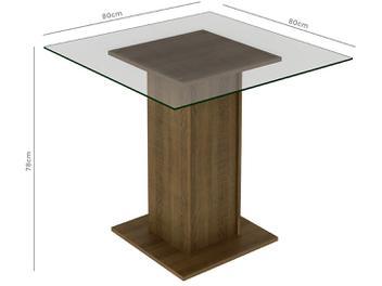 Mesa de Jantar com 4 Cadeiras Quadrada - Tampo de Vidro Madesa Aline - Mesa de Jantar com 4 Cadeiras Quadrada - Tampo de Vidro Madesa Aline -  Uma sala de jantar moderna e bem aconchegante precisará de um móvel diferenciado como essa Sala de Jantar Aline desenvolvido para oferecer total conforto e comodidade para você e sua família. Além de seu bonito visual, o produto é fabricado com chapas MDP/MDF de 15/25 mm, material ecologicamente correto