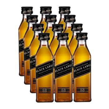 Miniatura Mini Whisky Black Label 50ml 12 Unidades - Johnnie walker