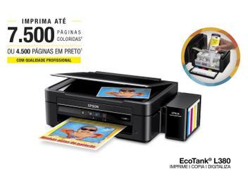Multifuncional Epson EcoTank L380 Tanque de Tinta - Colorida USB 2.0