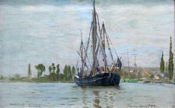 Navio de Pesca - Claude Monet - Tela 60x96 Para Quadro - Santhatela