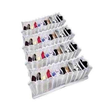 Organizador de Gavetas (calcinhas, meias, cuecas) em TNT Branco kit com 4 peças - Vb home