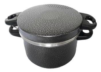 Panela Cozimento A Vapor Pudim Espagueteira Preta Remaza