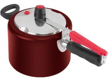 Panela de Pressão Clock PPFI 9295302825 Alumínio - 4,5L Vermelho