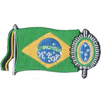Patch Bordado Brasao Exercito Brasileiro e Bandeira EX10061-184 - Universo talysma bordados