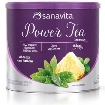Power Tea Chá Verde Abacaxi com Hortelã 200g Sanavita