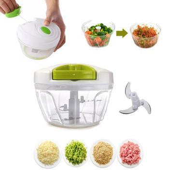 Processador Triturador Manual De Alimentos 3 Lâminas Cozinha - Ry top brasil