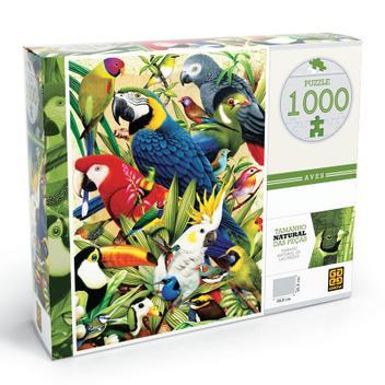 Quebra Cabeça 1000 Peças Puzzle Aves Grow