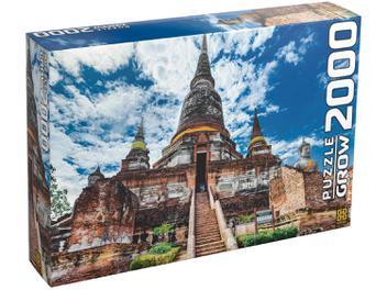Quebra-cabeça 2000 Peças Templo Tailandês - Grow
