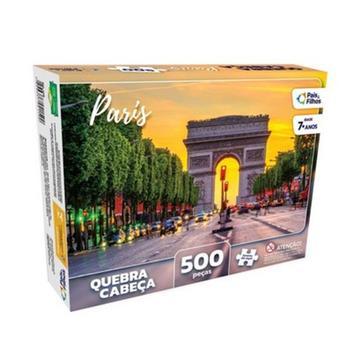 Quebra Cabeça Paris França 500 Peças Pais E Filhos - Paes e filhos