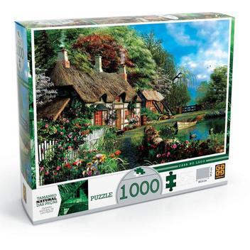 Quebra Cabeça Puzzle 1000 Peças Casa No Lago 02963 - Grow