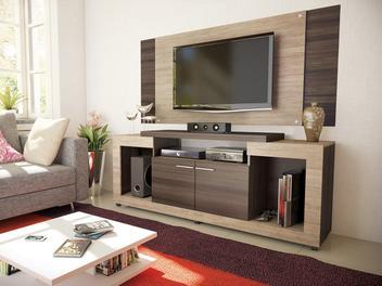 """Rack com Painel para TV até 55"""" 2 Portas - Caemmun Premium Elegance"""