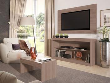 Rack Para TV 55 com Mesa de Centro e Painel Argila