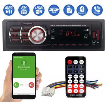 Rádio Automotivo Mp3 Com Porta USB Sd Fm Com Bluetooth - First option
